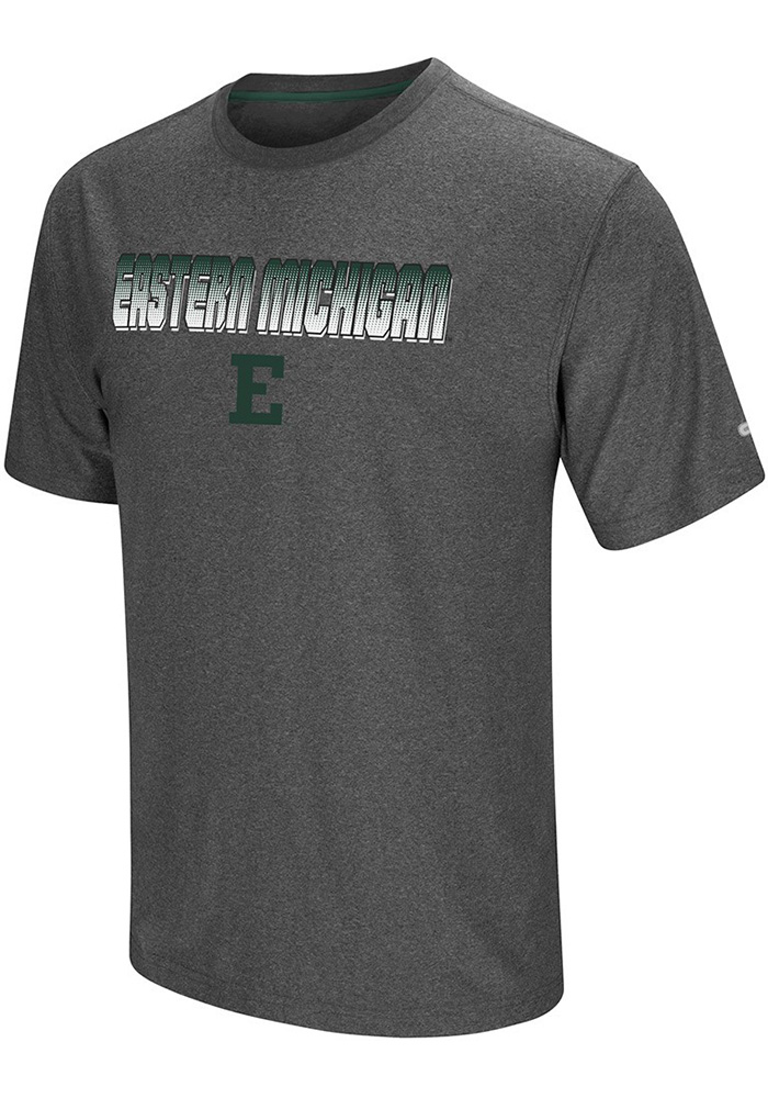 Colosseum Eastern Michigan Eagles Grey Sleeper Short Sleeve T Shirt - Image 1