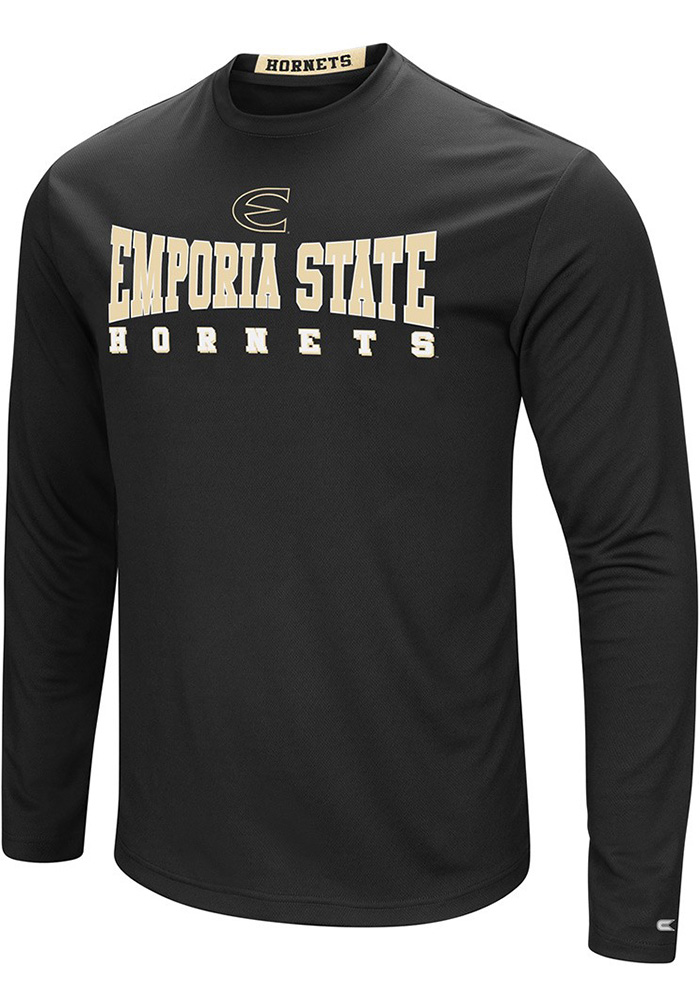 Colosseum Emporia State Hornets Black Streamer Long Sleeve T-Shirt - Image 1