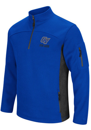 Colosseum Grand Valley State Lakers Mens Blue Advantage 1/4 Zip Pullover