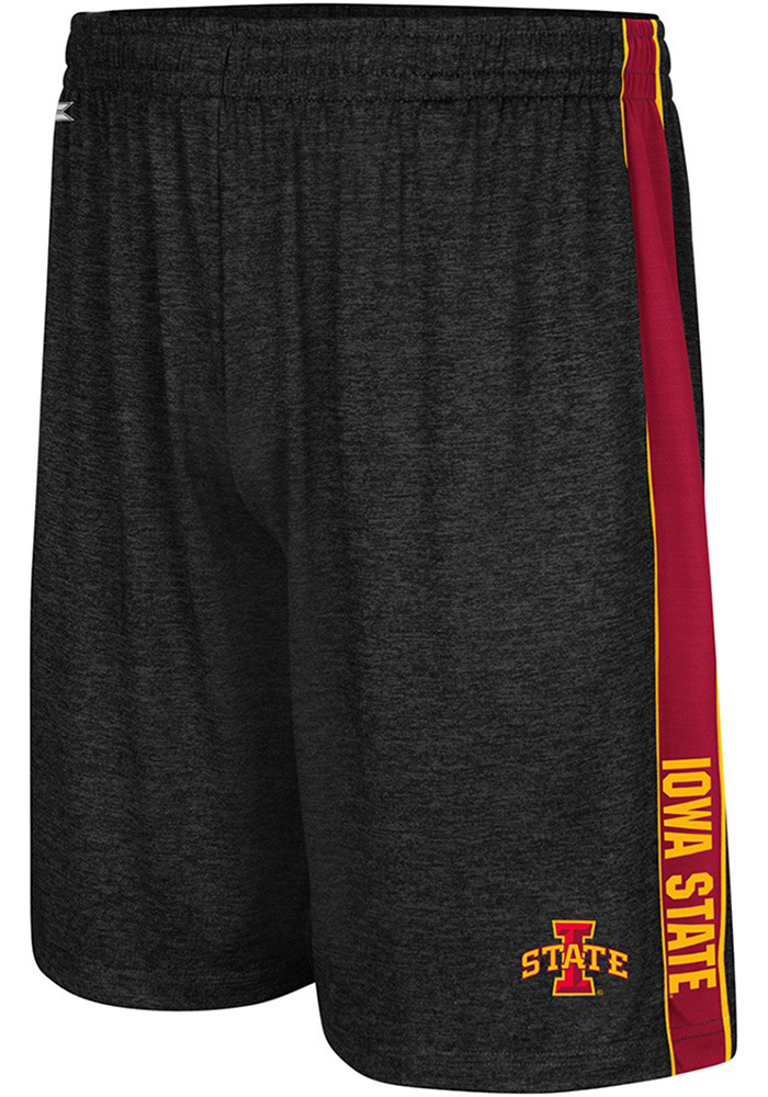 Colosseum Iowa State Cyclones Mens Black Wicket Shorts, Black, 92% POLYESTER / 8% SPANDEX, Size 2XL