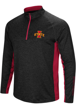 Colosseum Iowa State Cyclones Mens Black Upstart 1/4 Zip Pullover