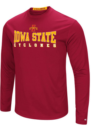 Colosseum Iowa State Cyclones Mens Cardinal Streamer Tee