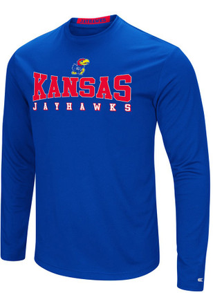 Colosseum Kansas Jayhawks Mens Blue Streamer Tee