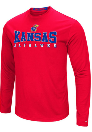 Colosseum Kansas Jayhawks Mens Red Streamer Tee