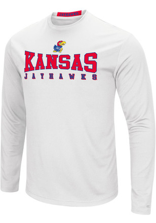 Colosseum Kansas Jayhawks Mens White Streamer Tee