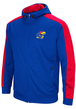 Colosseum Kansas Jayhawks Mens Blue Setter Zip