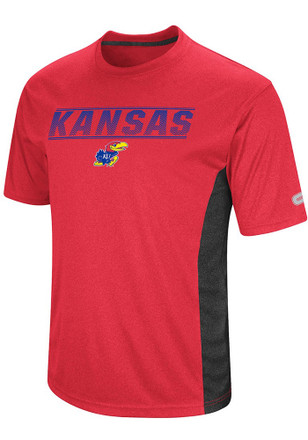 Colosseum Kansas Jayhawks Mens Red Beamer Tee