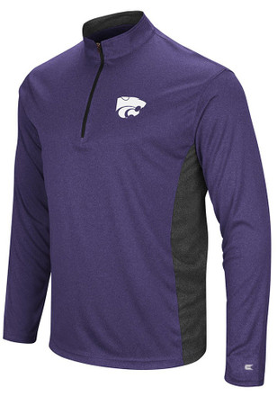 Colosseum K-State Wildcats Mens Purple Audible 1/4 Zip Pullover