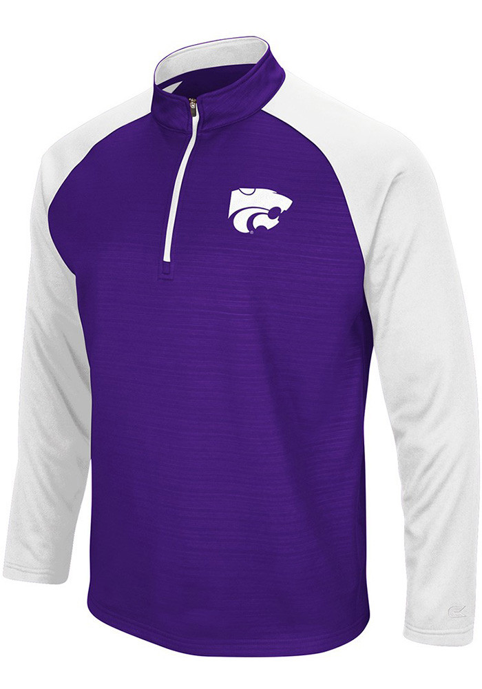 Colosseum K-State Wildcats Mens Purple Setter 1/4 Zip Pullover - Image 1