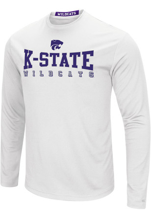 Colosseum K-State Wildcats Mens White Streamer Tee
