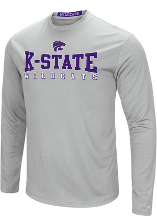 Colosseum K-State Wildcats Mens Grey Streamer Tee