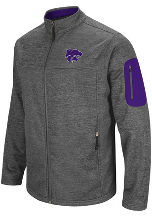 Colosseum K-State Wildcats Mens Grey Anchor Heavyweight Jacket
