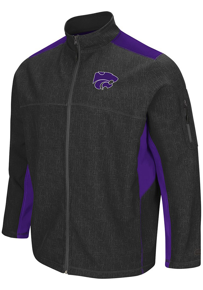 Colosseum K-State Wildcats Mens Grey Acceptor Light Weight Jacket - Image 1