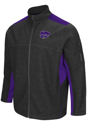 Colosseum K-State Wildcats Mens Grey Acceptor Light Weight Jacket