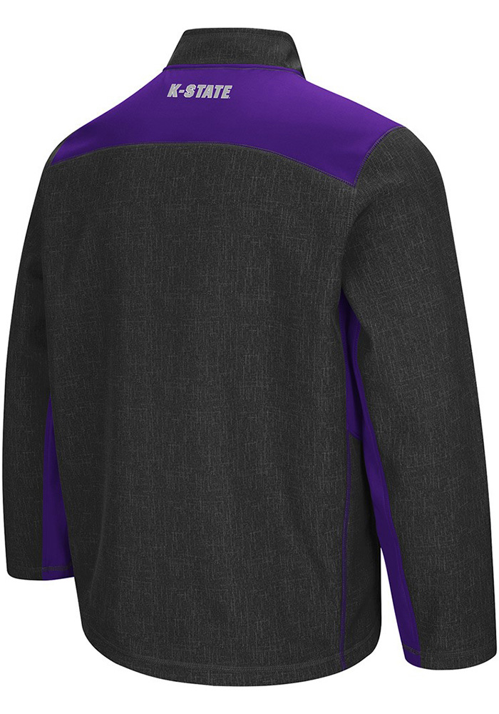 Colosseum K-State Wildcats Mens Grey Acceptor Light Weight Jacket - Image 2