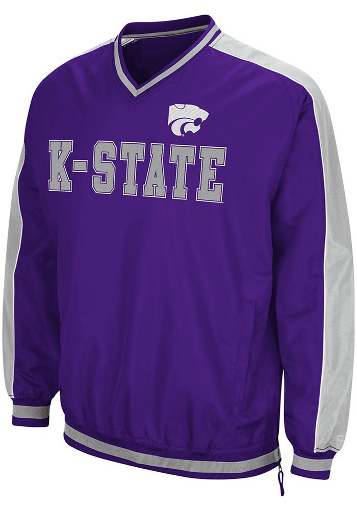 Colosseum K-State Wildcats Mens Purple Attack Pullover Jackets - Image 1