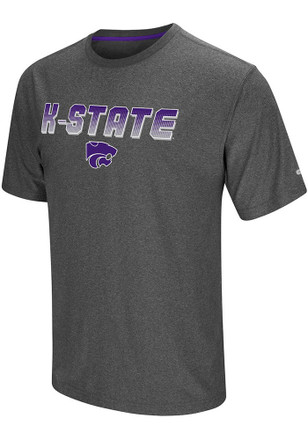 Colosseum K-State Wildcats Mens Grey Sleeper Tee