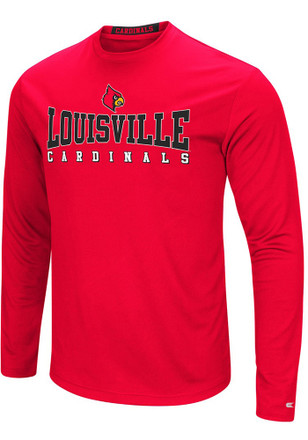 Colosseum Louisville Cardinals Mens Red Streamer Tee