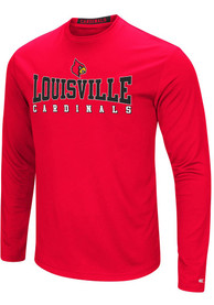 Colosseum Louisville Cardinals Red Streamer Tee