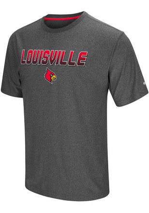 Colosseum Louisville Cardinals Mens Grey Sleeper Tee