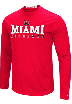 Colosseum Miami Redhawks Mens Red Streamer Tee