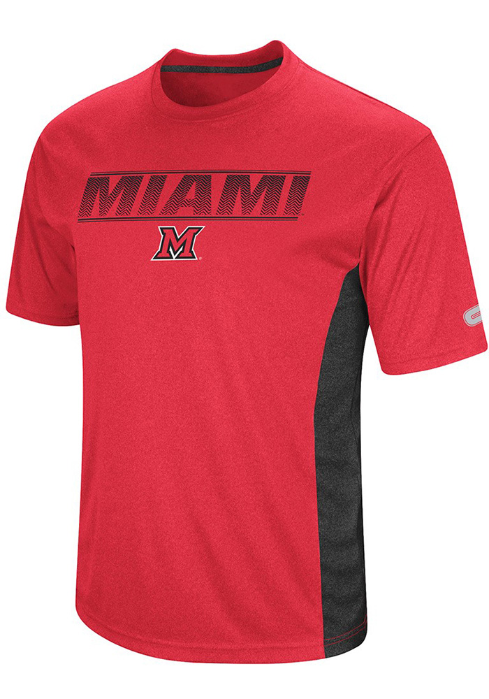 Colosseum Miami Redhawks Red Beamer Short Sleeve T Shirt - Image 1