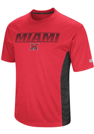Colosseum Miami Redhawks Mens Red Beamer Tee