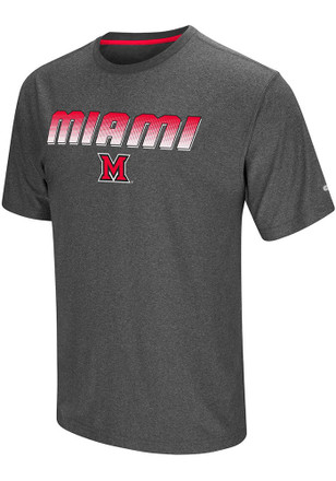 Colosseum Miami Redhawks Mens Grey Sleeper Tee