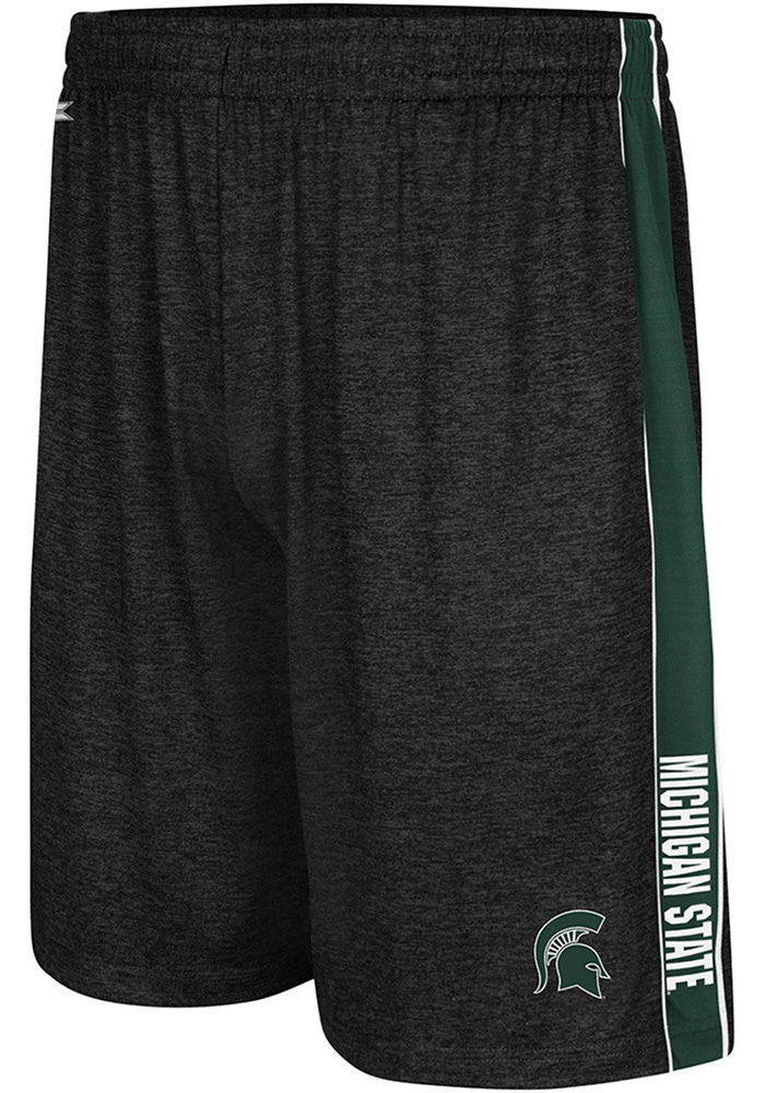 Colosseum Michigan State Spartans Mens Black Wicket Shorts - Image 1
