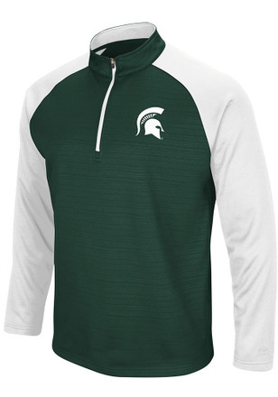 Colosseum Michigan State Spartans Mens Green Setter 1/4 Zip Pullover