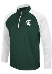 Michigan State Spartans Colosseum Setter 1/4 Zip Pullover - Green