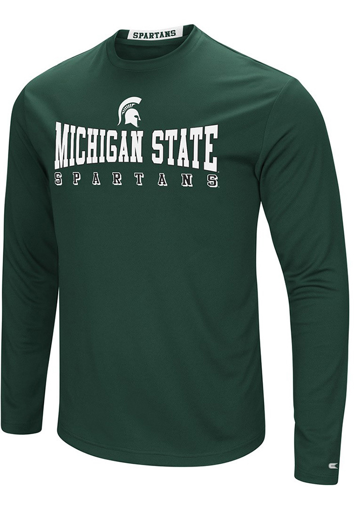 Colosseum Michigan State Spartans Green Streamer Long Sleeve T-Shirt - Image 1