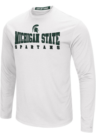 Colosseum Michigan State Spartans Mens White Streamer Tee