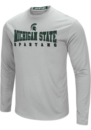 Colosseum Michigan State Spartans Mens Grey Streamer Tee