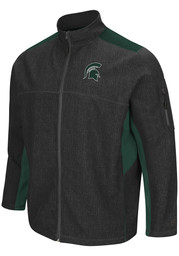 Colosseum Michigan State Spartans Mens Charcoal Acceptor Medium Weight Jacket