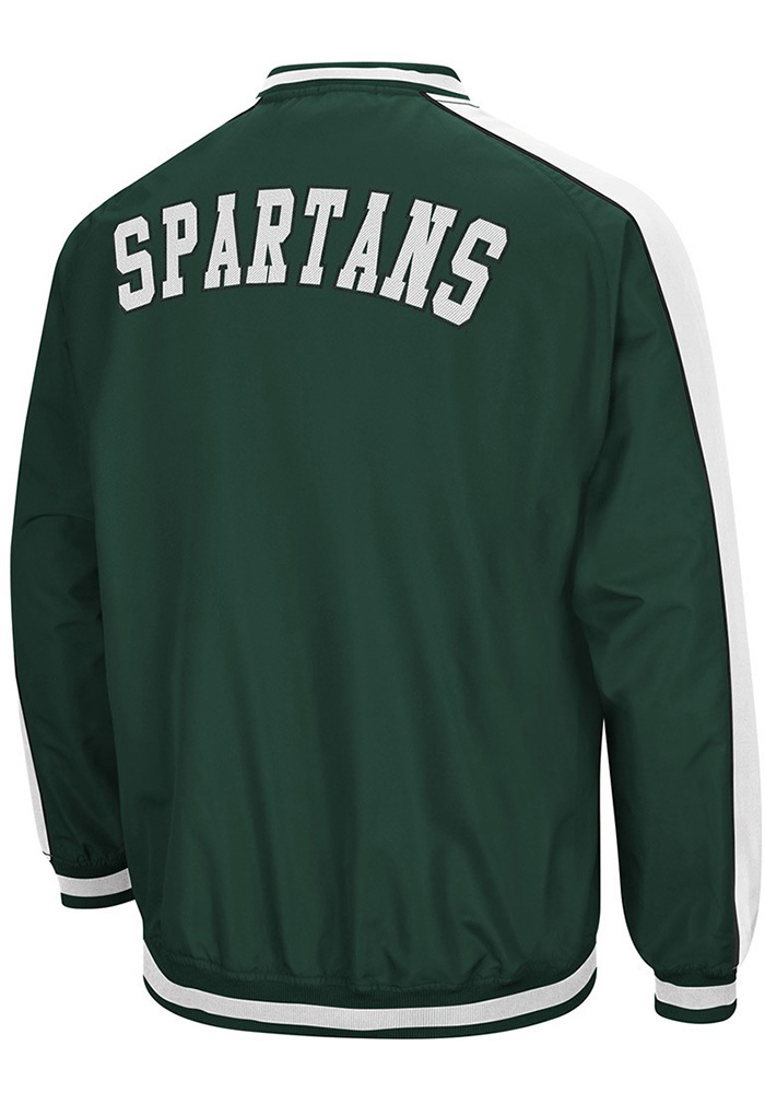 Colosseum Michigan State Spartans Mens Green Attack Pullover Jackets - Image 2