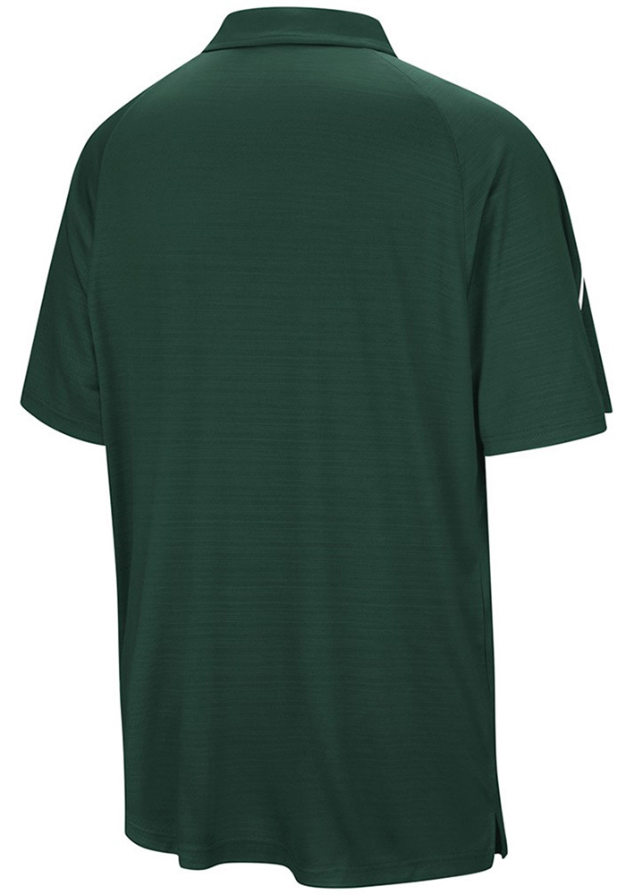 Colosseum Michigan State Spartans Mens Green Setter Short Sleeve Polo - Image 2
