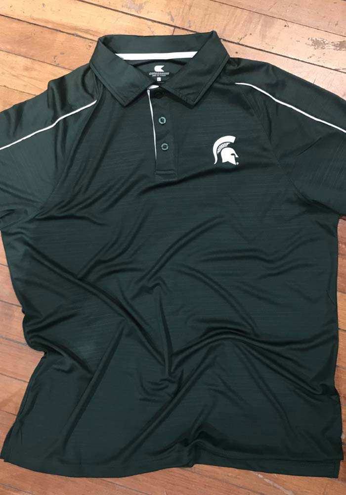 Colosseum Michigan State Spartans Mens Green Setter Short Sleeve Polo - Image 3