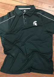 Colosseum Michigan State Spartans Mens Green Setter Short Sleeve Polo