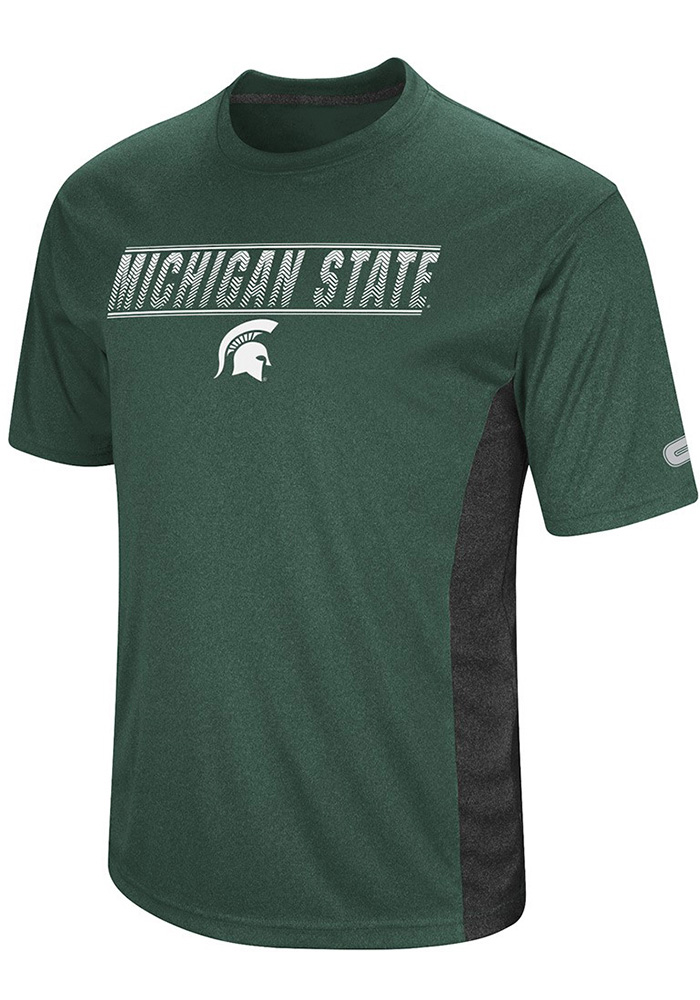 Colosseum Michigan State Spartans Green Beamer Short Sleeve T Shirt - Image 1