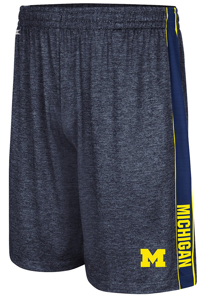 Colosseum Michigan Wolverines Mens Navy Blue Wicket Shorts - Image 1