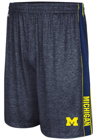 Michigan Wolverines Colosseum Wicket Shorts - Navy Blue