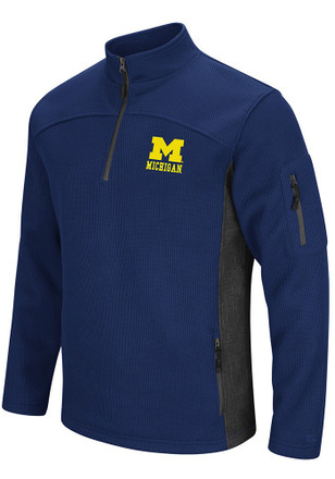 Colosseum Michigan Wolverines Mens Navy Blue Advantage 1/4 Zip Pullover