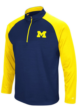 Colosseum Michigan Wolverines Mens Navy Blue Setter 1/4 Zip Pullover