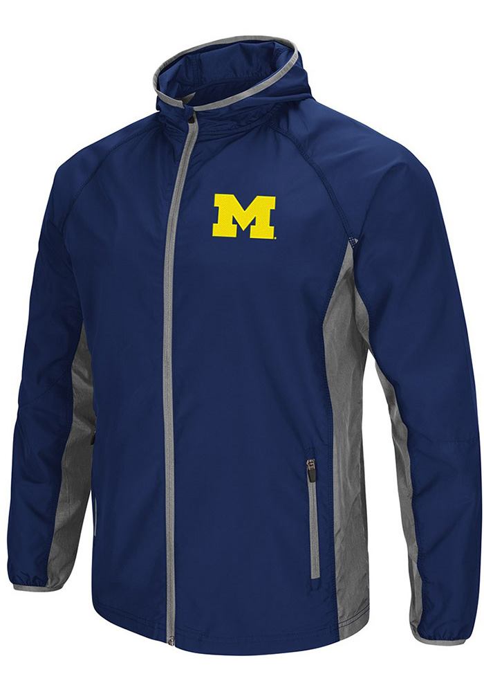 Colosseum Michigan Wolverines Mens Navy Blue Archer Long Sleeve Zip - Image 1