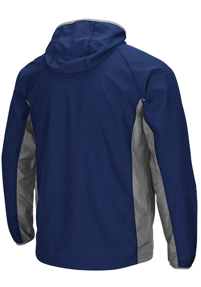 Colosseum Michigan Wolverines Mens Navy Blue Archer Long Sleeve Zip - Image 2