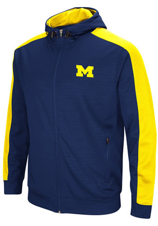 Colosseum Michigan Wolverines Mens Navy Blue Setter Zip