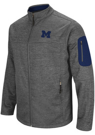 Michigan Wolverines Colosseum Anchor Heavyweight Jacket - Charcoal