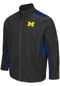 Michigan Wolverines Colosseum Acceptor Medium Weight Jacket - Charcoal