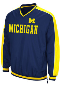 Michigan Wolverines Colosseum Attack Pullover Jackets - Navy Blue